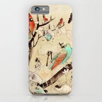 iPhone Cases featuring Forest Scene by Mutt Ink