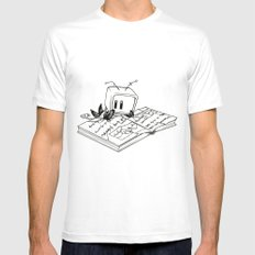 Computer Research White Mens Fitted Tee SMALL