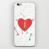 Keys Of Heart iPhone & iPod Skin