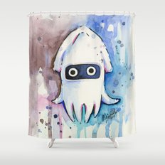 Blooper Watercolor Mario Art Shower Curtain