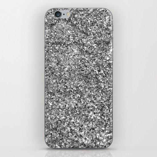 SILVER GLITTER iPhone & iPod Skin
