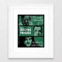 Knowledge Rules Framed Art Print