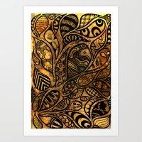 Autumnal Tangles Art Print