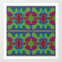green slime pattern Art Print