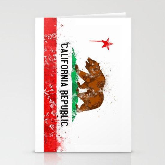 California Flag Stationery Card