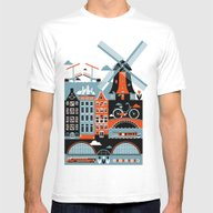 Amsterdam Mens Fitted Tee White SMALL