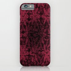 Pink Halftone Flowers Slim Case iPhone 6s