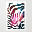 Zebra/A - for iphone Art Print