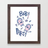 Baby Party Framed Art Print