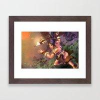 The Bestial Huntress Framed Art Print