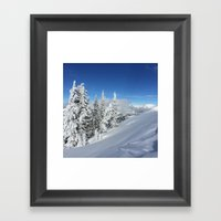 Deep Snow And Low Clouds… Framed Art Print