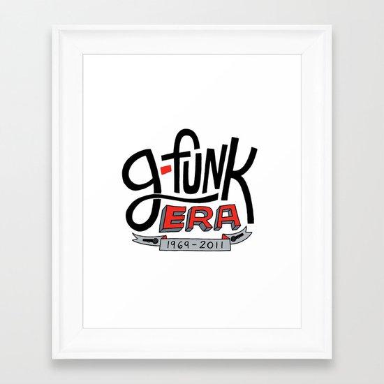 G-Funk Era Framed Art Print