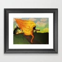 Corriendo Framed Art Print
