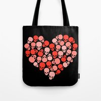 SKULL HEART FOR VALENTINE'S DAY Tote Bag