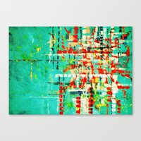 on my street -turquoise abstract Canvas Print