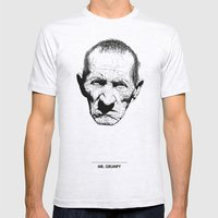 Mr. Grumpy Mens Fitted Tee Ash Grey SMALL