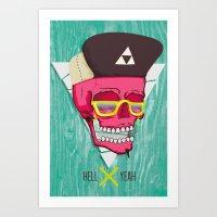 Hell Yeah Skull 2 Art Print