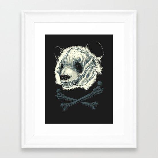 Hardcore Panda! Framed Art Print