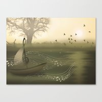 river of music Canvas Print