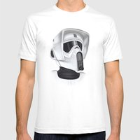 Scout Trooper Mens Fitted Tee White SMALL