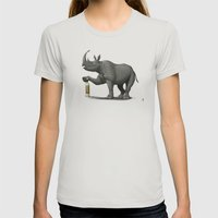 Cork it, Durer! Womens Fitted Tee Silver SMALL