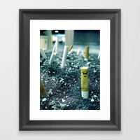 Zombie Cigarette Framed Art Print
