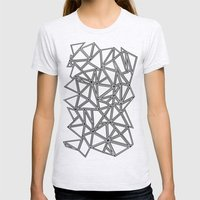 Abstract New Black On Wh… Womens Fitted Tee Ash Grey SMALL
