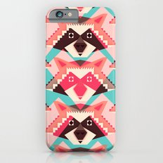 Raccoons and hearts iPhone 6 Slim Case