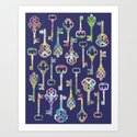 Rainbow Keys Art Print