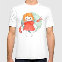 Ponyo Mens Fitted Tee White SMALL