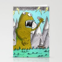 Sea Beast Stationery Cards