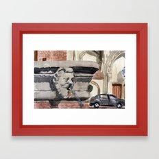 a watery watcher Framed Art Print
