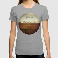 Home Is Wherever I'm Wit… Womens Fitted Tee Tri-Grey SMALL