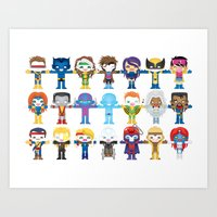 90's 'X-men' Robotics Art Print