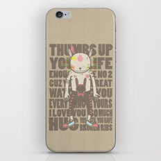 THUMBS UP YOUR LIFE iPhone & iPod Skin