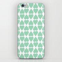 Diamond Hearts Repeat Mi… iPhone & iPod Skin