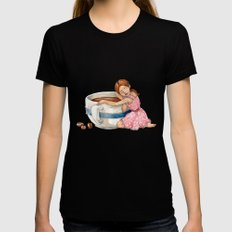 Coffee Love Womens Fitted Tee Black SMALL