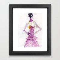 Lady boo Framed Art Print