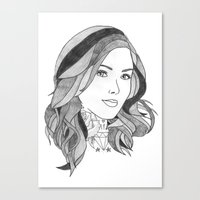 Inked 2 Canvas Print