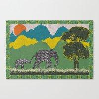 Elephant Park 3 Canvas Print
