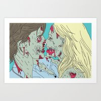 Kiss Of Death Art Print