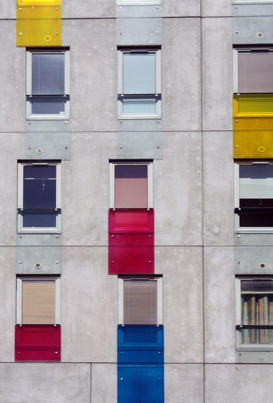eastern european apartments in colour Art Print