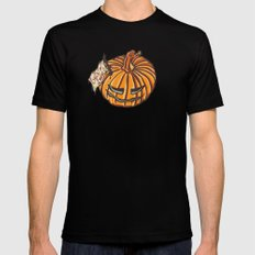 trick or treat? - pattern Mens Fitted Tee Black SMALL