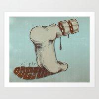 The Foot Doctor Art Print