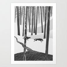 Martwood Wolves Art Print