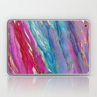 AGATE MAGIC PinkAqua Red Lavender, Marble Geode Natural Stone Inspired Watercolor Abstract Painting Laptop & iPad Skin