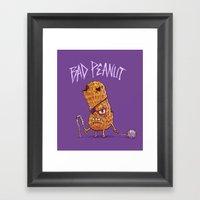Bad Peanut Framed Art Print