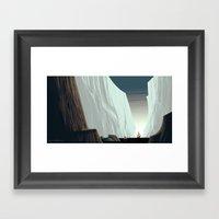 Ice Field & Ship Framed Art Print