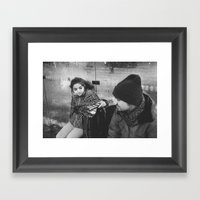 Waiting For The Next Tra… Framed Art Print