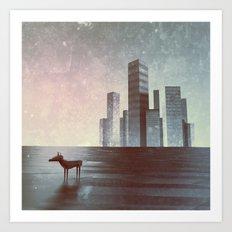 LEAVING CITY Art Print